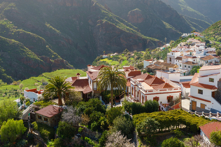 Tejeda, idyllic village in the mountains of Gran Canaria, Canary islands, Spain