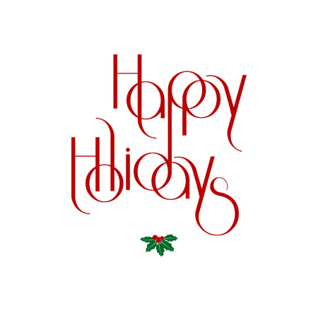 interlaced: Merry Christmas interlaced lettering vector illustration eps 10 Illustration