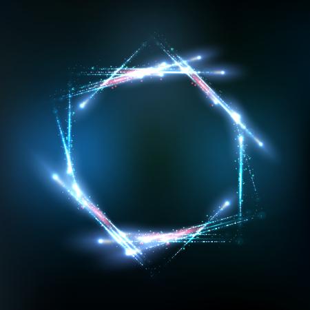 Vector frame gevormd door lichten en fonkelingen. Vector illustratie eps 10