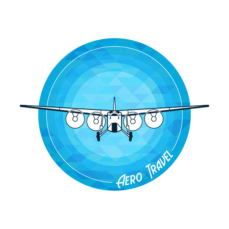warlike: Vector retro plane symbol illustration eps 10