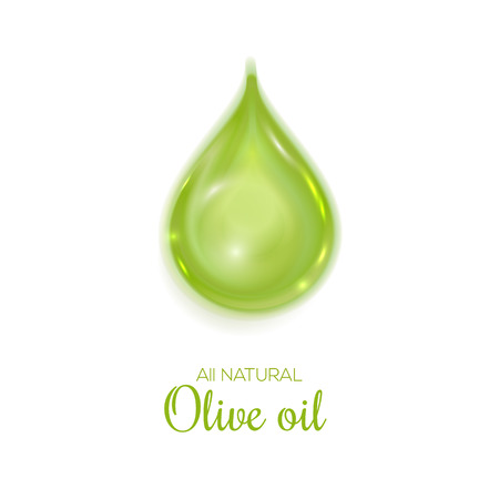 edible: Drop of olive oil symbol. All natural olive oil illustration