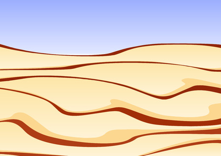 dunes: Illustration of a desert with a clear blue sky
