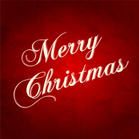 congratulations banner: Christmas Greeting Card. Merry Christmas vector illustration