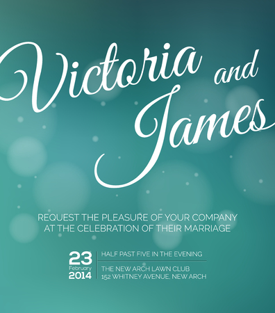 holiday invitation: Save the date for personal holiday. Wedding invitation. Vector image. Illustration