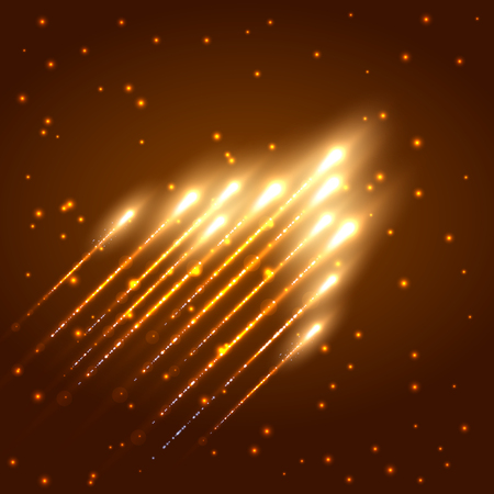 meteor: Abstract shining meteor. Vector illustration