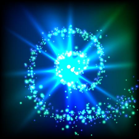 Fonkelingswerveling. Vector licht illustratie