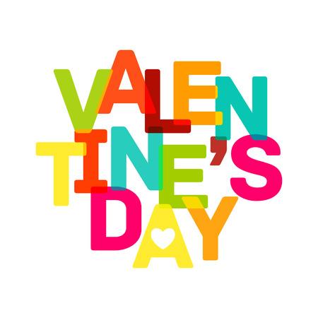 fond de texte: La banni�re de la Journ�e de la Saint-Valentin Multicolor. texte clair. Vector illustration. Illustration