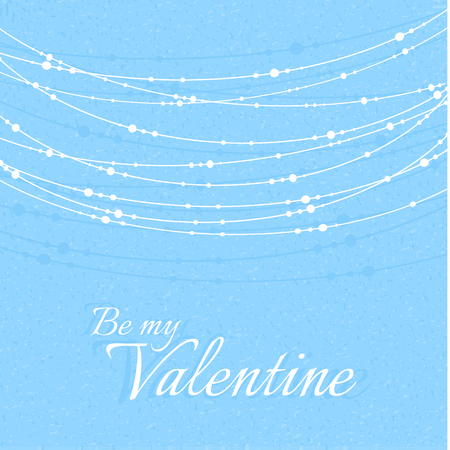 rich couple: Valentines Day Illustration with Delicate Beautiful Decorations. Vector illustration Illustration