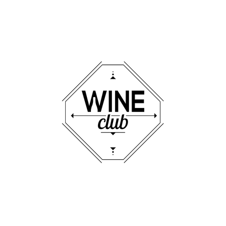 chardonnay: Symbol of the wine club. Sign sommelier. vector illustration Illustration