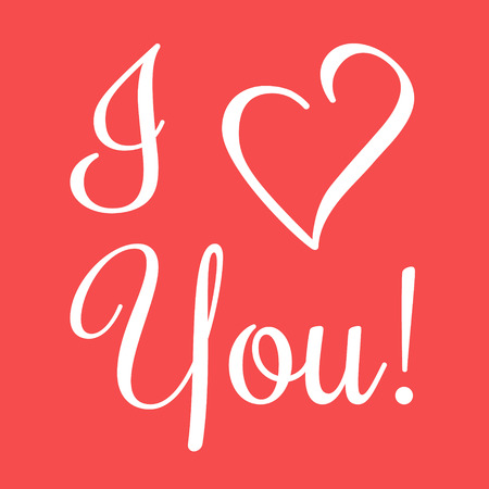 upmarket: Valentine I Love You Vector Lettering stylish text