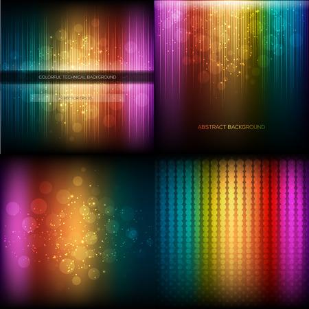 Multicolor musical equalizer set. Vector illustration eps 10