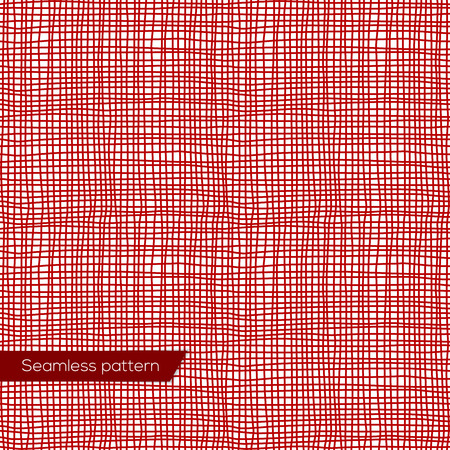 flax: Seamless texture of red canvas vector eps 10 Illustration