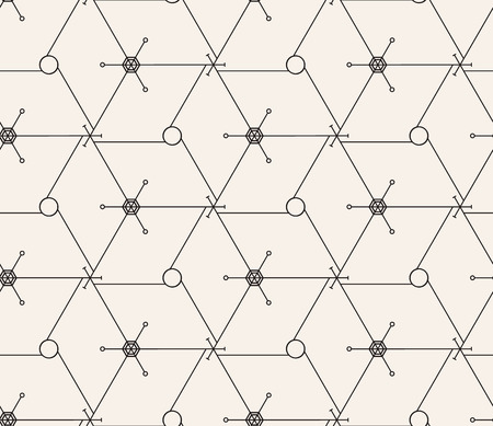 seamless pattern. Modern stylish texture. Repeating geometric tiles with thin hexagonal grid. Contemporary graphic design.