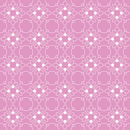Vintage seamless floral pattern. White on colorful background Çizim