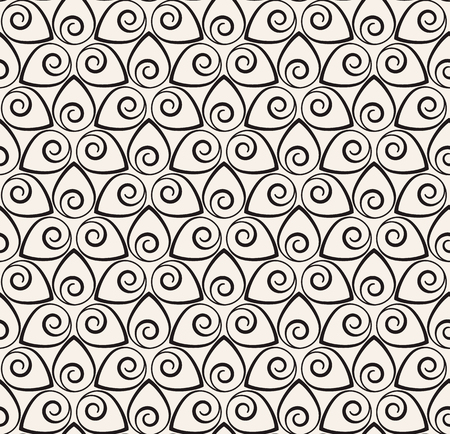 Vector seamless pattern. Modern stylish texture. Repeating lines geometric background