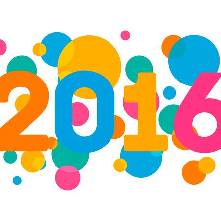 Gelukkig Nieuwjaar 2016 multicolor achtergrond voor uw wens kaart illustratie