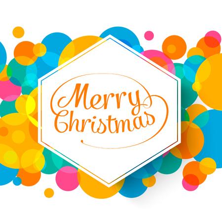 Merry Christmas multicolor achtergrond voor uw wens kaart illustratie