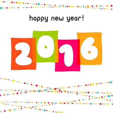 2016 Gelukkig Nieuwjaar achtergrond Vector illustratie
