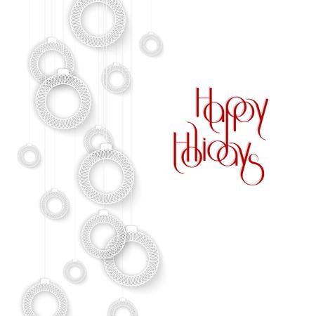 Abstracte Witte Sier Kerstbal, creatieve vectorillustratie Stock Illustratie
