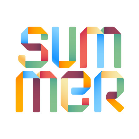3d zomer tekst ontwerp sjabloon. Vector eps10
