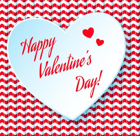 Valentijnsdag abstracte achtergrond met gesneden papieren hart.