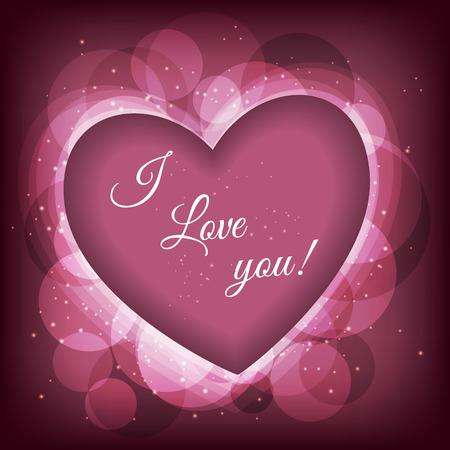 Valentijnsdag frame vector achtergrond met hart. Vectir eps 10