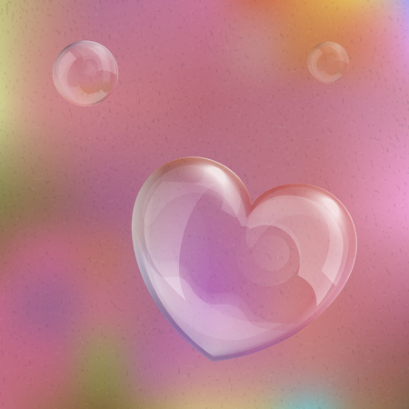 Vector illustratie van glimmende bubble hart, originele Valentijnsdag kaart