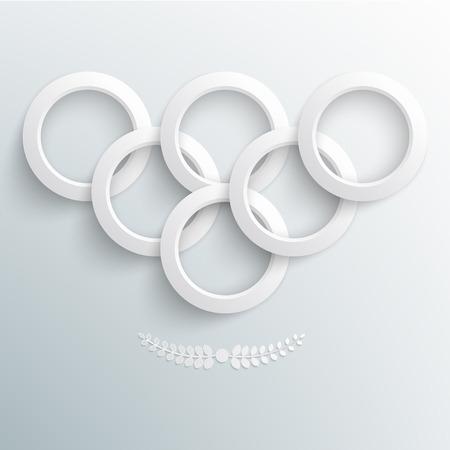 Vector illustratie van sport achtergrond, papier ringen Eps 10 Stock Illustratie