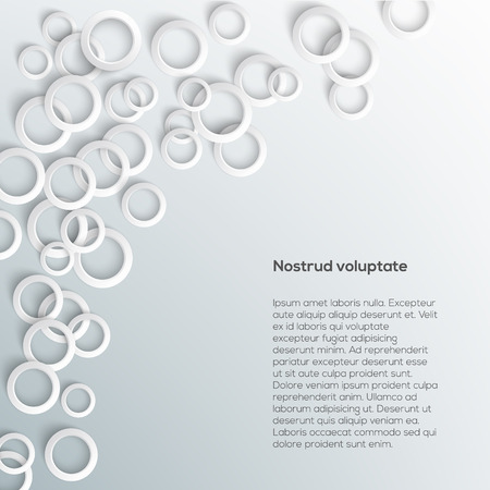 Abstract white paper circles on light background. Vector eps10 illustration