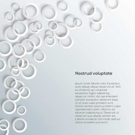 Abstracte witte kringen cirkels op lichte achtergrond. Vector eps10 illustratie