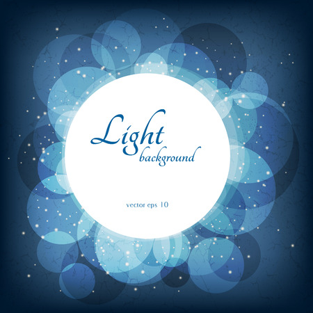 Abstract magic lights background. Good template for postcards or a bookcover Eps 10 Illustration