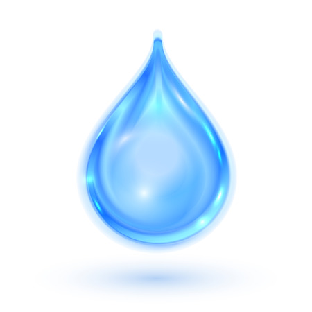 Blue shiny water drop. Vector illustration eps 10