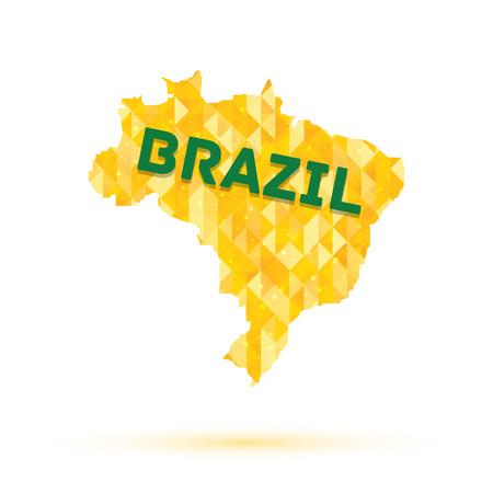 Kaart van Brazilië vector illustratie eps 10 Stock Illustratie