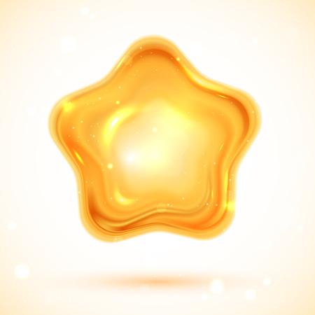 Vector illustratie van glanzende 3d ster eps 10