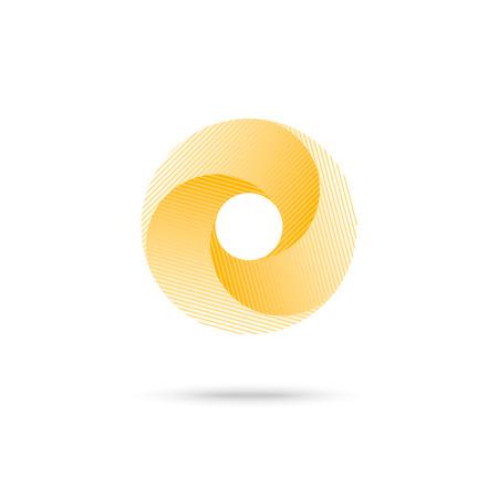 Abstracte vorm, geel 3d torus.