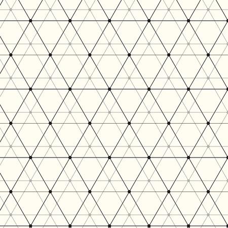 Moderne stijlvolle textuur. Herhalende geometrische achtergrond met lineaire driehoeken, ruiten en cirkels in knooppunten. Trendy hipster heilige geometrie.