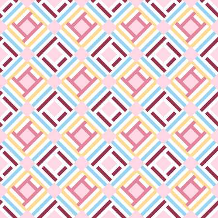 Abstract geometric seamless pattern background, vector Çizim