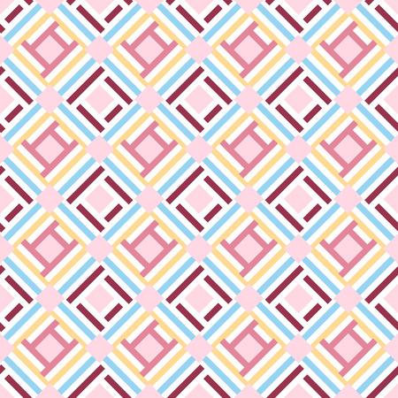 Abstracte geometrische naadloze patroon achtergrond, vector Stock Illustratie