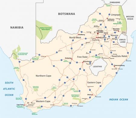 Sudafrica Cartina Muta.Vettoriale Strade Di Johannesburg Mappa Della Citta Sud Africa Cartina Stradale Image 90473645