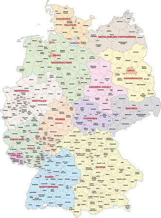 administrativo: mapa administrativo alemania