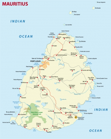 national parks: Mauritius road map