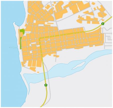 swakopmund: Swakopmund city map Illustration