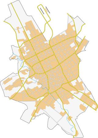 Riyadh mapa de la ciudad Foto de archivo - 23992723