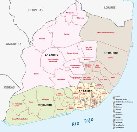 iberian: Lisbon administrative map
