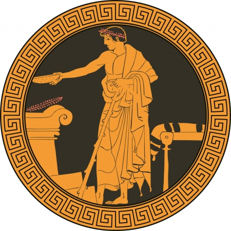 ancient civilization: Ancient greek dish Illustration
