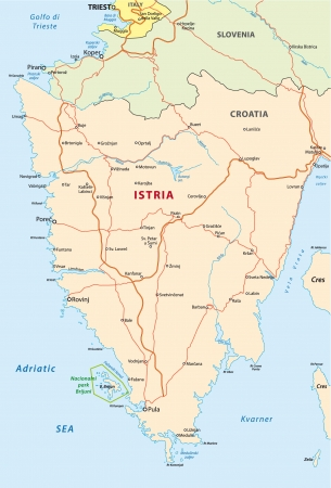 Istria road map