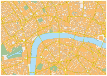 London city map Vector