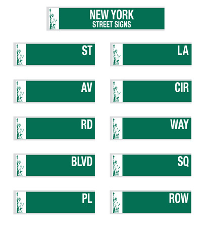 dr: New York City street signs Illustration