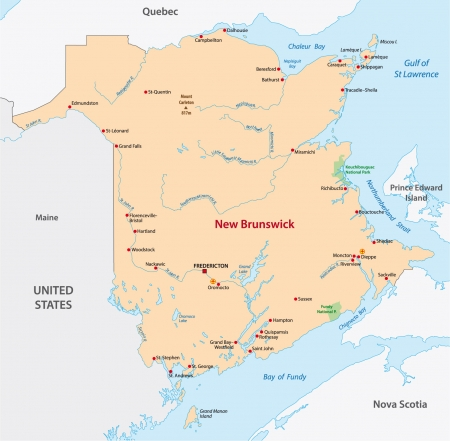 edward: New Brunswick map