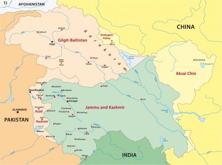 kashmir: Kashmir map